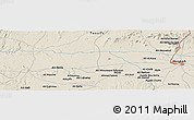 """Shaded Relief Panoramic Map of the area around 31°39'38""""N,8°25'30""""W"""