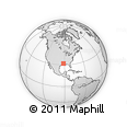 Outline Map of Catahoula Parish, rectangular outline