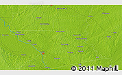 """Physical 3D Map of the area around 31°39'38""""N,92°34'29""""W"""