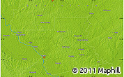 """Physical Map of the area around 31°39'38""""N,92°34'29""""W"""