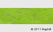 """Physical Panoramic Map of the area around 31°39'38""""N,92°34'29""""W"""