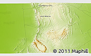 """Physical 3D Map of the area around 31°20'36""""S,138°37'30""""E"""