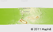 """Physical Panoramic Map of the area around 31°20'36""""S,138°37'30""""E"""