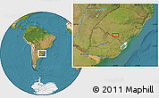 Satellite Location Map of San Luis