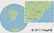 Savanna Style Location Map of San Luis