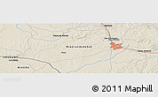 """Shaded Relief Panoramic Map of the area around 31°20'36""""S,54°19'30""""W"""