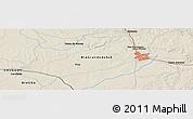 Shaded Relief Panoramic Map of Cerrillada