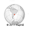 Outline Map of Cuchilla Manguera, rectangular outline