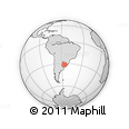 Outline Map of Tranqueras, rectangular outline