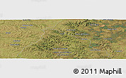Satellite Panoramic Map of Bañado de Rocha