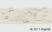 Shaded Relief Panoramic Map of Zanja Honda