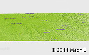 "Physical Panoramic Map of the area around 31° 20' 36"" S, 56° 52' 30"" W"