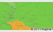 Political 3D Map of Salto