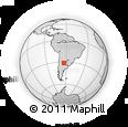 Outline Map of Villa Corazón De María, rectangular outline