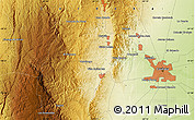 """Physical Map of the area around 31°20'36""""S,64°31'30""""W"""