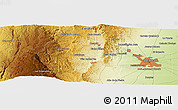 """Physical Panoramic Map of the area around 31°20'36""""S,64°31'30""""W"""