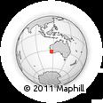 Outline Map of Darlington, rectangular outline