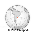 """Outline Map of the Area around 31° 49' 7"""" S, 53° 28' 30"""" W, rectangular outline"""