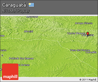 Physical Panoramic Map of Caraguatá