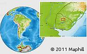 Physical Location Map of Poblado Los Grozos