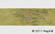 Satellite Panoramic Map of Poblado Lavalleja