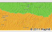 """Political 3D Map of the area around 31°49'7""""S,56°52'30""""W"""