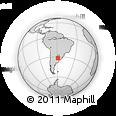 Outline Map of Pedernal, rectangular outline