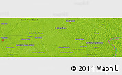 """Physical Panoramic Map of the area around 31°49'7""""S,58°34'30""""W"""