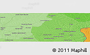 """Political Panoramic Map of the area around 31°49'7""""S,58°34'30""""W"""