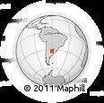 Outline Map of Paraná, rectangular outline