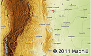 """Physical Map of the area around 31°49'7""""S,64°31'30""""W"""