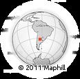 Outline Map of Alta Gracia, rectangular outline