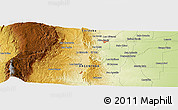 """Physical Panoramic Map of the area around 31°49'7""""S,64°31'30""""W"""