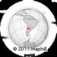 Outline Map of Cuatro Esquinas, rectangular outline