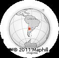 Outline Map of Las Toscas, rectangular outline