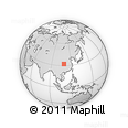 Outline Map of Zhangheping, rectangular outline