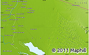 """Physical Map of the area around 32°8'5""""N,114°40'30""""W"""
