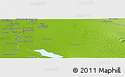 """Physical Panoramic Map of the area around 32°8'5""""N,114°40'30""""W"""