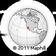 Outline Map of Ojos Negros, rectangular outline
