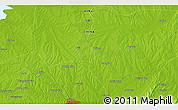 """Physical 3D Map of the area around 32°8'5""""N,117°22'30""""E"""