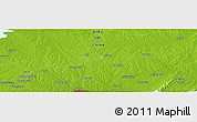"""Physical Panoramic Map of the area around 32°8'5""""N,117°22'30""""E"""