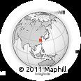 Outline Map of Chuzhou, rectangular outline