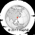 Outline Map of Gensi, rectangular outline