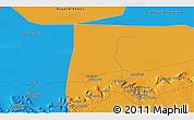 Political 3D Map of Awlād Ḩāmid