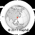 Outline Map of Nantong, rectangular outline