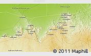 Physical 3D Map of Al Qawātī