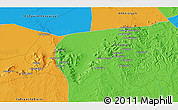 Political 3D Map of Al Qawātī