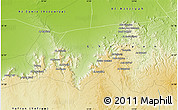 """Physical Map of the area around 32°8'5""""N,12°49'29""""E"""