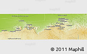 """Physical Panoramic Map of the area around 32°8'5""""N,12°49'29""""E"""