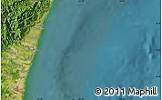"Satellite Map of the area around 32°8'5""N,131°49'29""E"